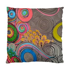 Rainbow Passion Standard Cushion Case (one Side) by SugaPlumsEmporium