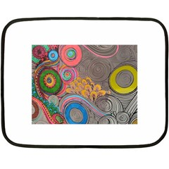 Rainbow Passion Fleece Blanket (mini) by SugaPlumsEmporium