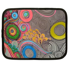 Rainbow Passion Netbook Case (xl)  by SugaPlumsEmporium