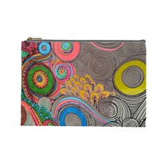 Rainbow Passion Cosmetic Bag (large)  by SugaPlumsEmporium