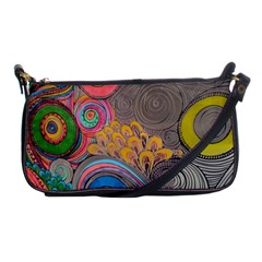 Rainbow Passion Shoulder Clutch Bags by SugaPlumsEmporium