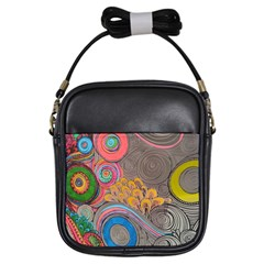 Rainbow Passion Girls Sling Bags by SugaPlumsEmporium
