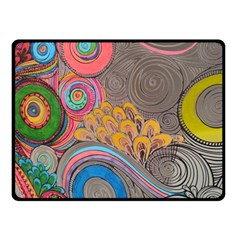 Rainbow Passion Fleece Blanket (small) by SugaPlumsEmporium