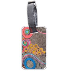 Rainbow Passion Luggage Tags (one Side)  by SugaPlumsEmporium