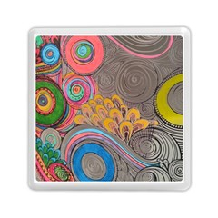 Rainbow Passion Memory Card Reader (square)  by SugaPlumsEmporium