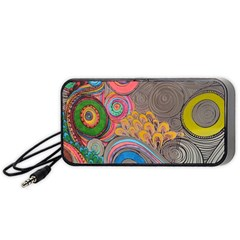 Rainbow Passion Portable Speaker (black)  by SugaPlumsEmporium