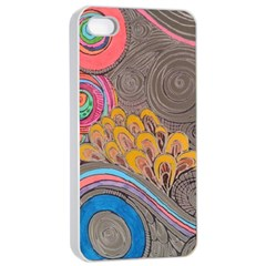 Rainbow Passion Apple Iphone 4/4s Seamless Case (white) by SugaPlumsEmporium