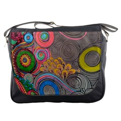 Rainbow Passion Messenger Bags by SugaPlumsEmporium