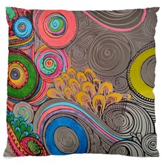 Rainbow Passion Large Cushion Case (two Sides) by SugaPlumsEmporium