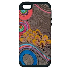 Rainbow Passion Apple iPhone 5 Hardshell Case (PC+Silicone) by SugaPlumsEmporium
