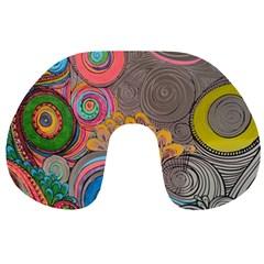 Rainbow Passion Travel Neck Pillows by SugaPlumsEmporium