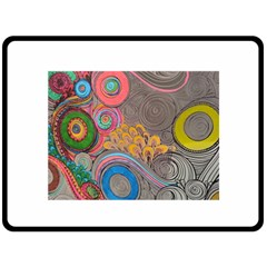 Rainbow Passion Double Sided Fleece Blanket (large)  by SugaPlumsEmporium