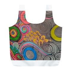 Rainbow Passion Full Print Recycle Bags (L)  by SugaPlumsEmporium
