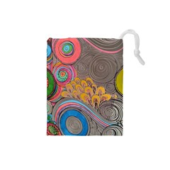 Rainbow Passion Drawstring Pouches (small)  by SugaPlumsEmporium