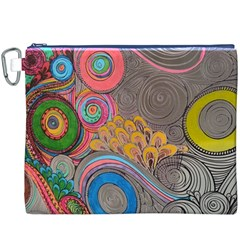 Rainbow Passion Canvas Cosmetic Bag (XXXL)  by SugaPlumsEmporium