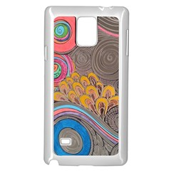 Rainbow Passion Samsung Galaxy Note 4 Case (white) by SugaPlumsEmporium