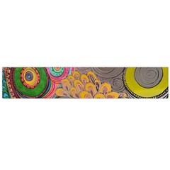 Rainbow Passion Flano Scarf (large)  by SugaPlumsEmporium