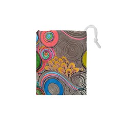 Rainbow Passion Drawstring Pouches (xs)  by SugaPlumsEmporium