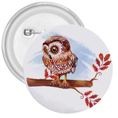 Owl 3  Buttons by TastefulDesigns