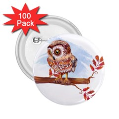 Owl 2 25  Buttons (100 Pack)