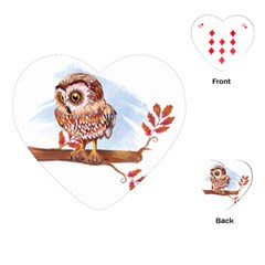 Owl Playing Cards (Heart)