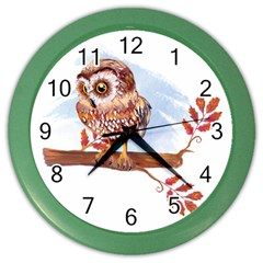 Owl Color Wall Clocks by TastefulDesigns