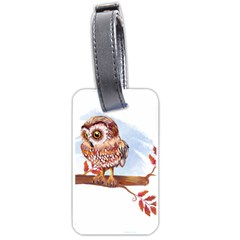 Owl Luggage Tags (two Sides) by TastefulDesigns