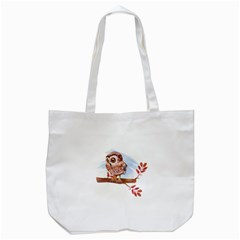 Owl Tote Bag (white)