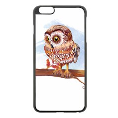 Owl Apple Iphone 6 Plus/6s Plus Black Enamel Case by TastefulDesigns