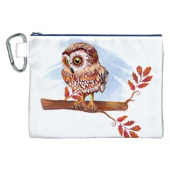 Owl Canvas Cosmetic Bag (xxl)  by TastefulDesigns