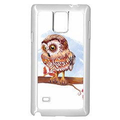 Owl Samsung Galaxy Note 4 Case (white) by TastefulDesigns