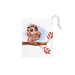 Owl Drawstring Pouches (xs)  by TastefulDesigns