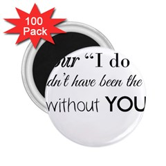 Wedding Favor/thank You 2 25  Magnets (100 Pack)  by LittileThingsInLife