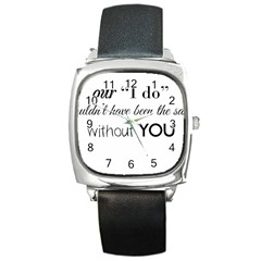Wedding Favor/thank You Square Metal Watch by LittileThingsInLife