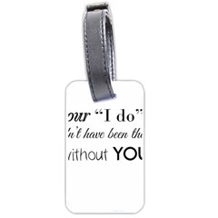 Wedding Favor/thank You Luggage Tags (two Sides) by LittileThingsInLife