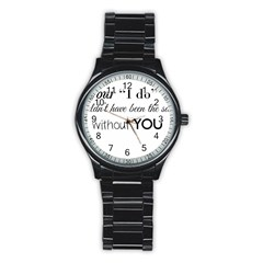 Wedding Favor/thank You Stainless Steel Round Watch by LittileThingsInLife