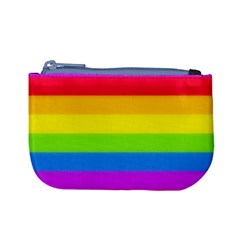 Rainbow Stripes Coin Change Purse by Ellador