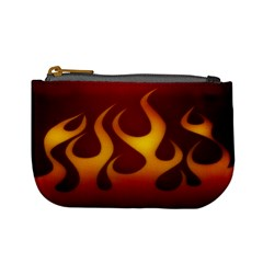 Flame Coin Change Purse by Ellador