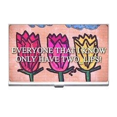 Two Lips   Tulips Business Card Holders by SugaPlumsEmporium
