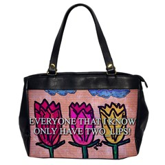 Two Lips   Tulips Office Handbags