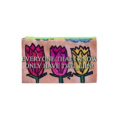 Two Lips   Tulips Cosmetic Bag (xs) by SugaPlumsEmporium
