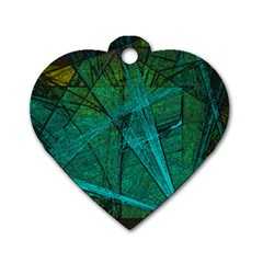 Weathered Dog Tag Heart (one Side) by SugaPlumsEmporium