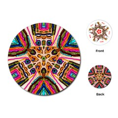 Ethnic You Collecition Playing Cards (round)  by SugaPlumsEmporium