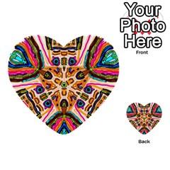 Ethnic You Collecition Multi Purpose Cards (heart)  by SugaPlumsEmporium