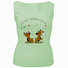 Give Them Love Women s Green Tank Top