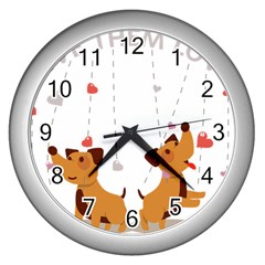 Give Them Love Wall Clocks (silver)