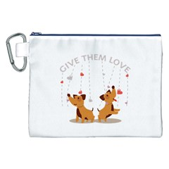 Give Them Love Canvas Cosmetic Bag (xxl)  by TastefulDesigns