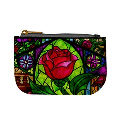 Stained Glass Rose Coin Change Purse by Ellador