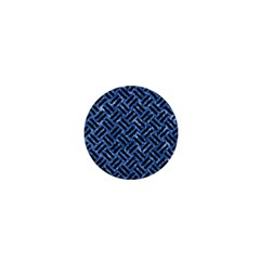 Woven2 Black Marble & Blue Marble (r) 1  Mini Button by trendistuff