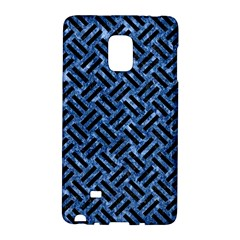 Woven2 Black Marble & Blue Marble (r) Samsung Galaxy Note Edge Hardshell Case by trendistuff